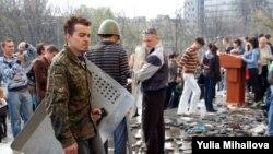 Центр Кишинева после ухода погромщиков