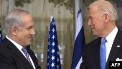 جوزف بایدن (راست) در دیدار با بنیامین نتانیاهو