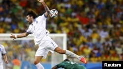 Фрагмент матчу Греція – Кот-д'Івуар