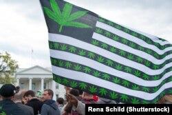 Акция в поддержку легализации марихуаны в Вашингтоне. Апрель 2016 года