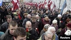 Шествие ветеранов Латышского легиона Ваффен SS в 2010 году