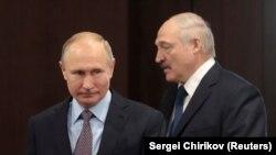 Уладзімір Пуцін і Аляксандар Лукашэнка ў Сочы, 15 лютага