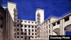 А. Фомин, Г. К. Олтаржевский. Новый корпус здания Моссовета, 1929