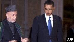 Претседателите на Авганистан и САД Карзаи и Обама во Кабул