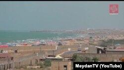 نمایی از ساحل باکو