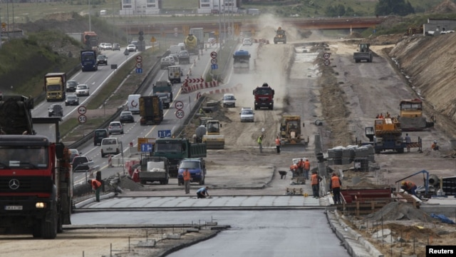 Чоң магистралдын курулушу. Польша.