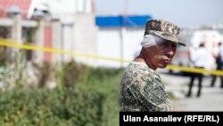 Раненный при взрыве в Бишкеке. 30 августа 2016 года.
