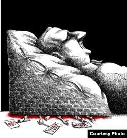 Башар Асад. Мана Нейестанидің карикатурасы.