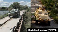 Україский бронетранспортер «Дозор» (л) і його польський аналог «Онцила» (п)