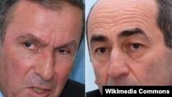 Levon Ter-Petrosyan (solda) və Robert Koçaryan