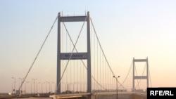 Kazakhstan - Bridge across the Irtysh River.