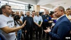 Валериу Стрелец встретился с участниками акции протеста