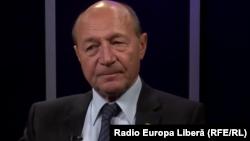 Traian Băsescu în studioul Europei Libere