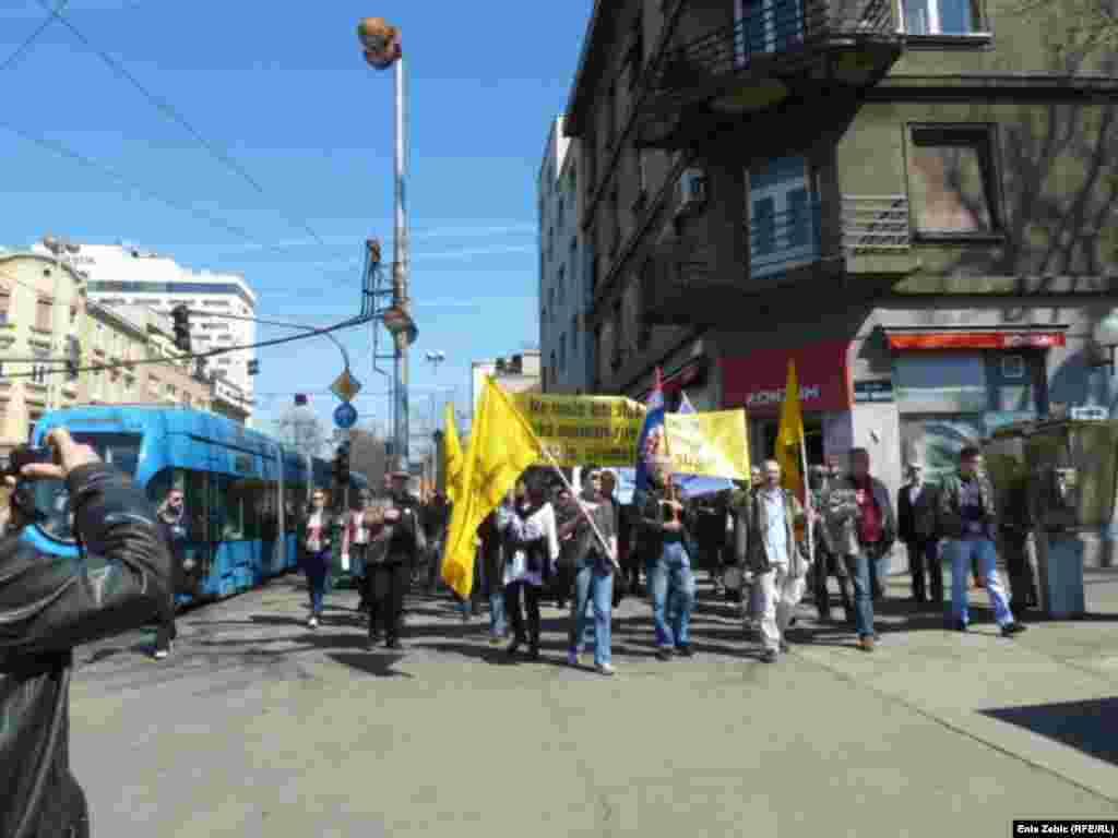 Prosvjed podrške kolegama u Večernjem listu, 25. ožujak 2011, fotografije Enis Zebić