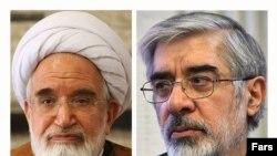 میرحسین موسوی، مهدی کروبی، محسن رضایی و محمود احمدینژاد
