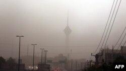 آلودگی و غبار در هوای تهران