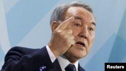 Қазақстан президенті Нұрсұлтан Назарбаев. Берлин, 8 ақпан 2012 жыл.