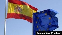 Zastava Španije i EU