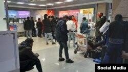 Мигранты в одном из российских аэропортов. Архивное фото