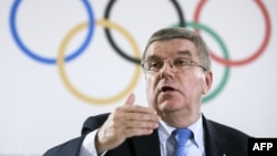 International Olympic Committee President Thomas Bach called for the matter to be resolved speedily.