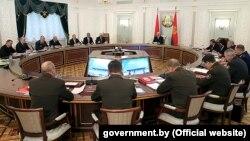 Паседжаньне Савету бясьпекі Беларусі з удзелам Аляксандра Лукашэнкі
