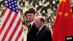Wilbur Ross și Liu He, la Beijing