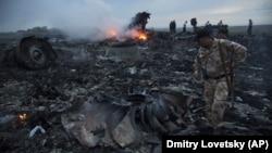 Место падения обломков «Боинга» рейса MH17 на Донбассе, архивное фото