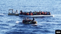 მიგრანტების გადარჩენის ოპერაცია ხმელთაშუა ზღვაში. 2016 წლის 30 აგვისტო