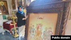 Ирма Инашвили в Илорском храме