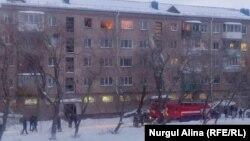 Дом, где произошел взрыв газа. Петропавловск, 8 февраля 2019 года.