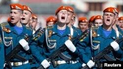 Парад на Красной площади Москвы. 9 мая 2014 года