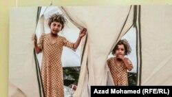 صورة لطفلتين ايزديتين