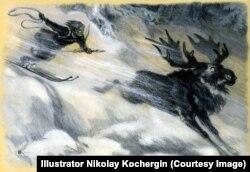 """""""Калевала"""", иллюстрация Николая Кочергина, 1960"""