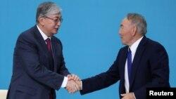 Нурсултан Назарбаев и Касым-Жомарт Токаев, Город Нур-Султан, 23 апреля 2019 года