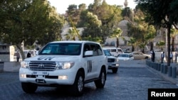 ՄԱԿ-ի մեքենաներ Սիրիայի մայրաքաղաք Դամասկոսում, արխիվ