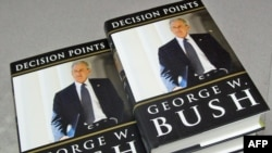 "U.S. -- Former US President George W. Bush's book ""Decision Points,"" sits in the storeroom of the Politics and Prose Bookstore in Washington, DC, 09Nov2010"