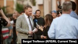 Czech Republic - Current Time TV speaks with Deputy Foreign Minister of the Czech Republic Jakub Durr before the premiere screening of Occupation 1968 at Kasarna Karlin, Prague, on August 21, 2018.