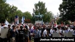 Протестите во Шарлотсвил на 12 август.