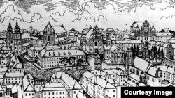 Верхні горад. Ілюстрацыя Віктара Сташчанюка