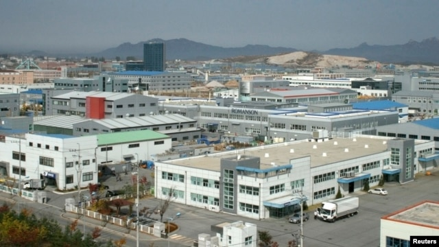 An aerial view of the inter-Korean industrial park in Kaesong (file photo)
