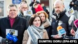 Maia Sandu în ziua alegerilor