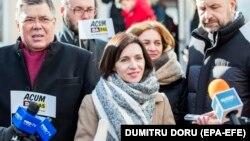 Лидер PAS Майя Санду на парламентских выборах, 24 февраля 2019 года, Кишинев