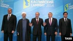 Астраханьда өткен Каспий елдері саммитіне қатысушы президенттер. 29 қыркүйек 2014 жыл