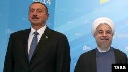 Azərbaycan prezidenti İlham Əliyev və İran prezidenti Hassan Rouhani