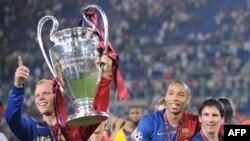 «Barselona» qələbəsini bayram edir. Roma, 27 may 2009