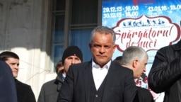 Vladimir Plahotniuc la un miting al democraților în ianuarie 2016