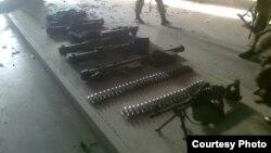 Військове обладнання, захоплене в Донецькому аеропорту, фото зі сторінки Арсена Авакова у Facebook