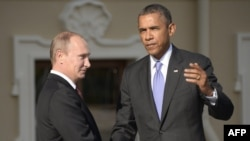 President Vladimir Putin (left) with his U.S. counterpart Barack Obama (file photo)