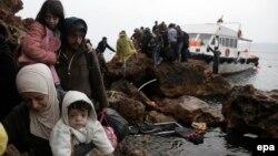 Փախստականները Թուրքիայից ժամանում են Հունաստան, 11-ը հոկտեմբերի, 2015թ․