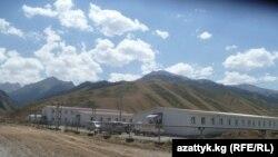 Жогорку Нарын ГЭС курулушчуларына салынган жатакана.